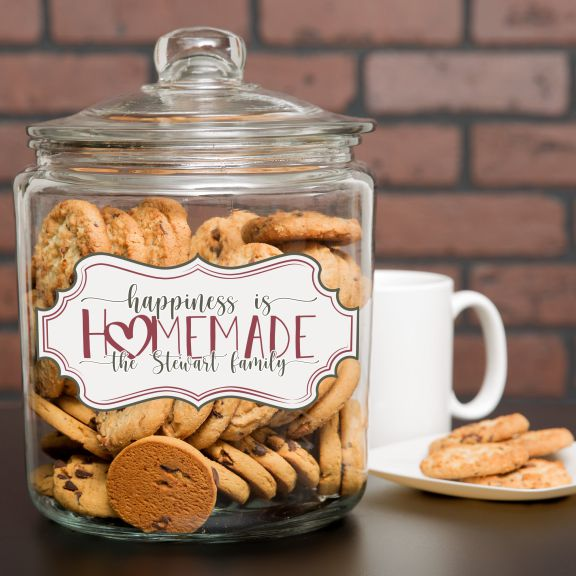 Happiness is Homemade Personalized Cookie Jar
