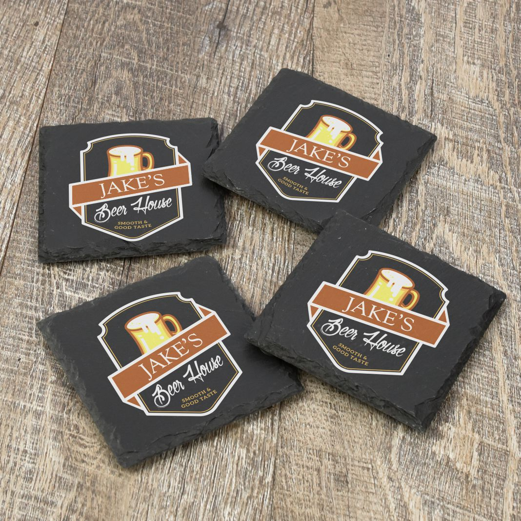 Beer House Personalized Coasters