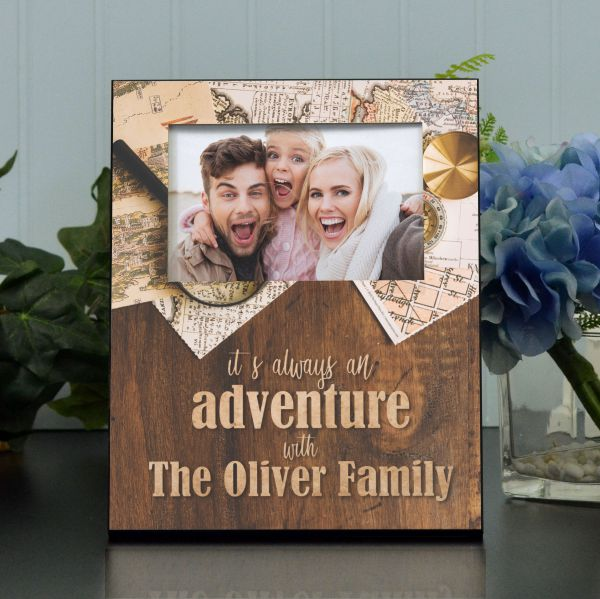 Familly Adventures Personalized Picture Frame